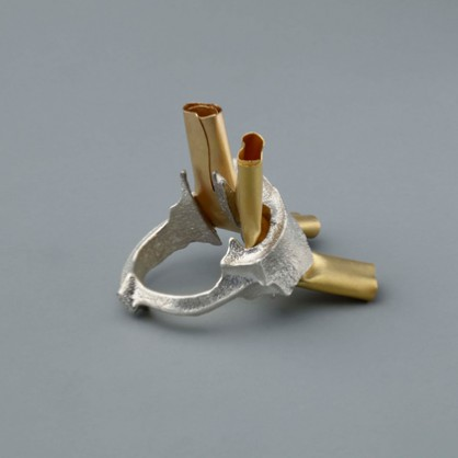 Johanna Dahm, ring, Enhancement, 2012, zilver, goud