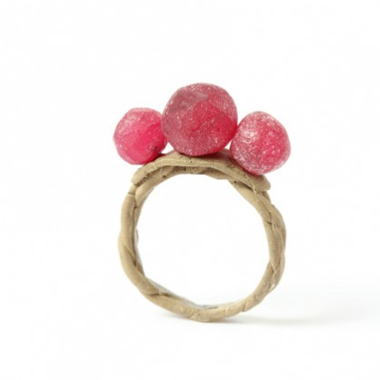 Karl Fritsch, ring 2018, 9k gold, synthetic ruby