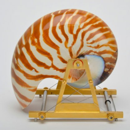 Sigurd Bronger, Carrying device for a Nautilus Shell, brooch, 2016
