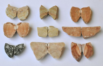 Vered Kaminski, brooches, stones